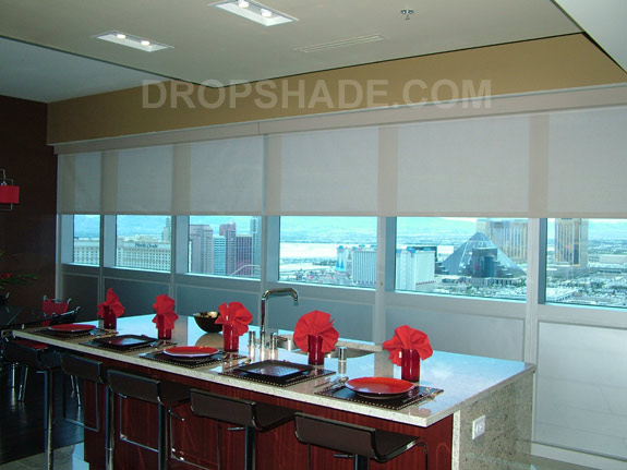 Panorama Towers Drop Shades And Motorized Window