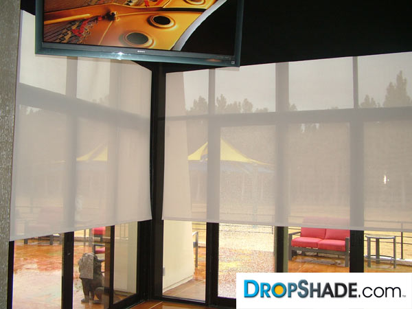 Dropshade Double Drop Shades Black Out And Sheer Combination